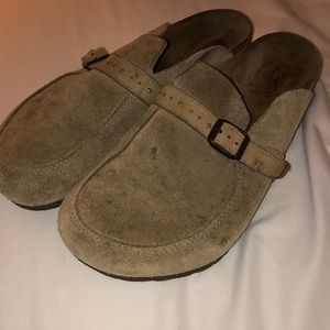 Birkenstock Buckley taupe-size 42-ladies 11